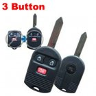 Blank Shell Modified for Ford Ignition Key and Alarm Remote Combination 3 Button