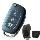 Blank Shell for Hyundai Flip Key 3 Button