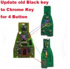 Electronic Board for update Mercedes-Benz Black Smart Remote to Chrome Key (4 Button)