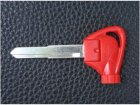 Red Folding Magnetic Key Blank with Left Blade for Yamaha Motorcycles