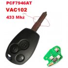 Remote Key for Renault Kangoo Clio III 3 Button (VAC102,PCF7946AT)