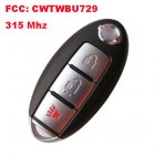 Smart Remote Key for Nissan 2+1 Button (315Mhz,FCC:CWTWBU729)