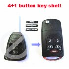Flip Key Shell Modified for Chrysler,Dodge,Jeep Remote Combo 5 Button (with Battery Location)