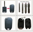 Flip Key Shell Modified for Opel Remote Key 2 Button Long Housing