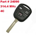 Remote Key for Toyota 3 Button 314.4 MHz (Toy48,4C, Part # 24090)