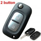 Blank Shell for Renault Clio Megane Kangoo Modus Flip Key 2 Button (VA6)