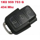 Remote Transmitter for SEAT 3 Button (434Mhz,1K0 959 753 G)