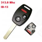 Remote Key for Honda 2+1 Button (313.8Mhz,ID13)