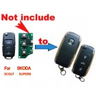 Flip Key Shell Modified for Skoda Elite,Superb 3 Button