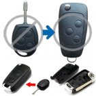 Flip Key Shell Modified for Ford Mondeo Remote Combo 3 Button (FO21)