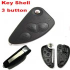 Auto Flip Key Shell for ALFA ROMEO 147,156,500,Brera,GT,Mito Cover Remote Transmitter 3 Button