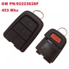 Remote Transmitter for Chevrolet 3+1 Button 433Mhz GM PN: 92223628F