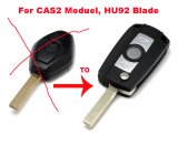 Auto Flip Key Combo Remote Transmitter for BMW with CAS2 Immo Moduel