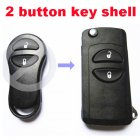 Flip Key Shell Modified for Chrysler,Dodge,Jeep Remote Transmitter 2 Button