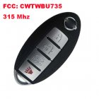 Smart Remote Key for Nissan 3+1 Button (315Mhz,FCC:CWTWBU735)