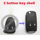 Flip Key Shell Modified for Chrysler,Dodge,Jeep Remote Combo 2 Button (No Battery Location)