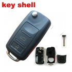 Flip Key Cover Shell for Volkswagen VW Touareg Remote Transmitter 3+1 Button