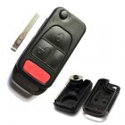 Blank Shell for MercedesBenz Flip Key 2+1 Button (HU64)