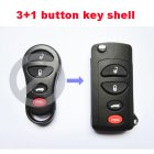 Flip Key Shell Modified for Chrysler,Dodge,Jeep Remote Transmitter 4 Button