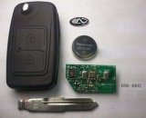Flip Remote Key for Chery Tiggo 2 Button 433Mhz