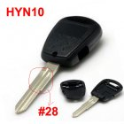 Blank Shell for Hyundai Remote Key with 1 Button on Side (HYN10L)