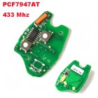 Electronic Board for Renault Clio Kangoo Remote Key 2 Button (PCF7947AT,433Mhz)