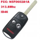 Flip Remote Key 2+1 Button for Acura (313.8Mhz,ID46,FCC ID: N5F0602A1A)