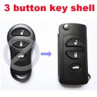 Flip Key Shell Modified for Chrysler,Dodge,Jeep Remote Transmitter 3 Button