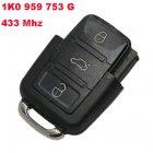 Remote Transmitter for Volkswagen 3 Button (434Mhz,1K0 959 753 G)