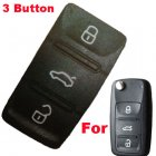 Push Button Rubber Pad For Volkswagen (VW) Tiguan Polo 2010 New Flip Remote Keys 3 Button