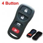 Blank Shell for Nissan Sylphy,Tiida Remote Transmitter 4 Button