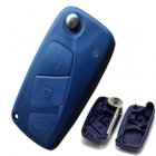 Blue Blank Shell for Fiat Punto Ducato Stilo Panda Flip Key 3 Button