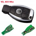Smart Remote Key with New Cover for Mercedes-Benz after 2000 years (V2,433Mhz,NEC)