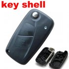 Black Blank Shell for Fiat Punto Ducato Stilo Panda Flip Key 2 Button
