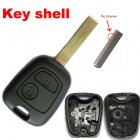 Blank Shell for Peugeot,Citroen Remote Key 2 Button (VA2)