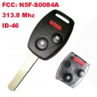 Remote Key for Honda 2+1 Button (313.8Mhz,ID46,FCC:N5F-S0084A)