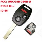 Remote Key for Honda 2+1 Button (313.8Mhz,ID46,FCC:OUCG8D-380H-A)