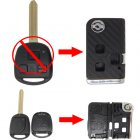 Flip Key Shell Modified for Toyota Prado 3 Button (with 3D Carbon Fiber Sticker)