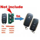 Flip Key Shell Modified for Volkswagen (VW) B5 Passat 3 Button