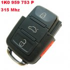 Remote Transmitter for Volkswagen 4 Button (315Mhz,1K0 959 753 P)