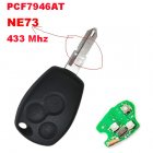 Remote Key for Renault Kangoo Clio III 3 Button (NE73,PCF7946AT)