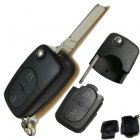 Flip Key Blank Shell for Volkswagen (VW) 2 Button (Round,for CR2032 Battery)