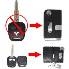 Flip Key Shell Modified for Mitsubishi Lancer 2 Button (with 3D Carbon Fiber Sticker)