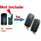 Flip Key Shell Modified for Porsche Cayenne, Turbo (3 Button)