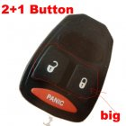 Rubber Pad for Chrysler Dodge Jeep Integrated Remote Key 2+1 button (Big)