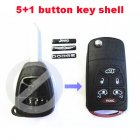 Flip Key Shell Modified for Chrysler,Dodge,Jeep Remote Combo 6 Button (with Battery Location)