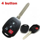 Blank Shell for 2012 Toyota Camry Remote Key Combo 4 Button (Toy43)