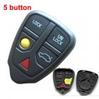 Auto Key Shell for Volvo V70 V90 C70 Cover Remote Transmitter 4+1 Button