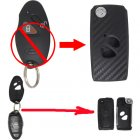 Flip Key Shell Modified for Hyundai Coupe 2 Button (with 3D Carbon Fiber Sticker)