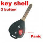 Blank Shell for Toyota 2006+ New Remote Key 3 Button (Toy43,Panic)